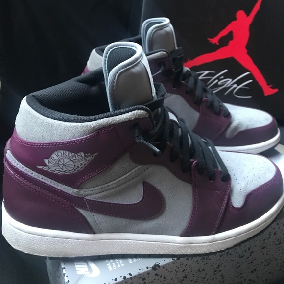 Air Jordan Other - Suede Nike Air-Jordan 1 Phat-Stealth   Bordeaux 85d37c484